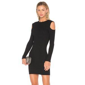 David Lerner Cold Shoulder Knit Mini Dress